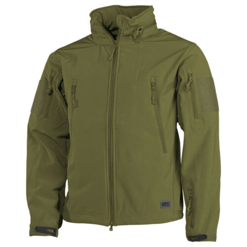 MFH Scorpion Soft Shell Jacket Mens Fishing Hunting Airsoft Outdoor OD Green