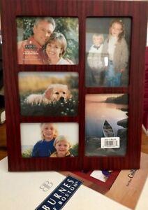 BURNES of BOSTON Large Collage Frame-5 Photos-Vertical/Horizontal Wall/Shelf NIB