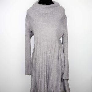 2d98434b46 Calvin Klein Womens Sweater Dress Knit Long Sleeve Cowl Neck Pleated ...