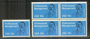 US #1920, 1981 18c Management Education - Wharton School of Business, S/B4 NH