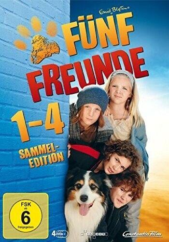 FÜNF FREUNDE 1-4(LIMITED EDITION)EISENBART,VALERIA/NICKEL,NELE MARIE-4 DVD NEW