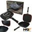 NGT-XL-doppia-griglia-antiaderente-DIE-CAST-Pan-per-cucina-da-campeggio-pesca-della-carpa