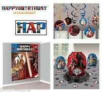 Star Wars Ep7 Birthday Pack (banner, Wall Poster, Swirls & Table Decor Kit)