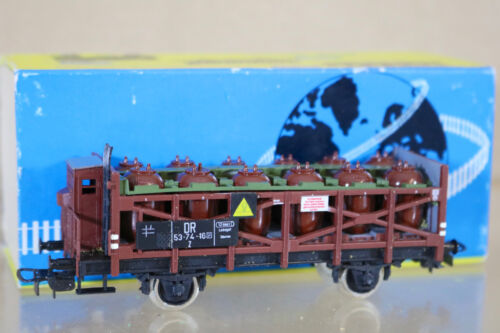 PIKO 145-B DR KESSELWAGEN GAS CANNISTER TANK WAGON 537410 MINT BOXED nd