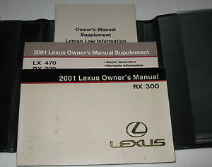 2001 lexus rx300 owners manual 01 set rx 300 guide w case ebay rh ebay com 2002 lexus rx300 repair manual free download 2002 Lexus RX300 Under Hood