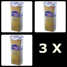 3 X Lock and Lock Food Storage Plastic Container 2L 2 Litre Long Tall Air tight