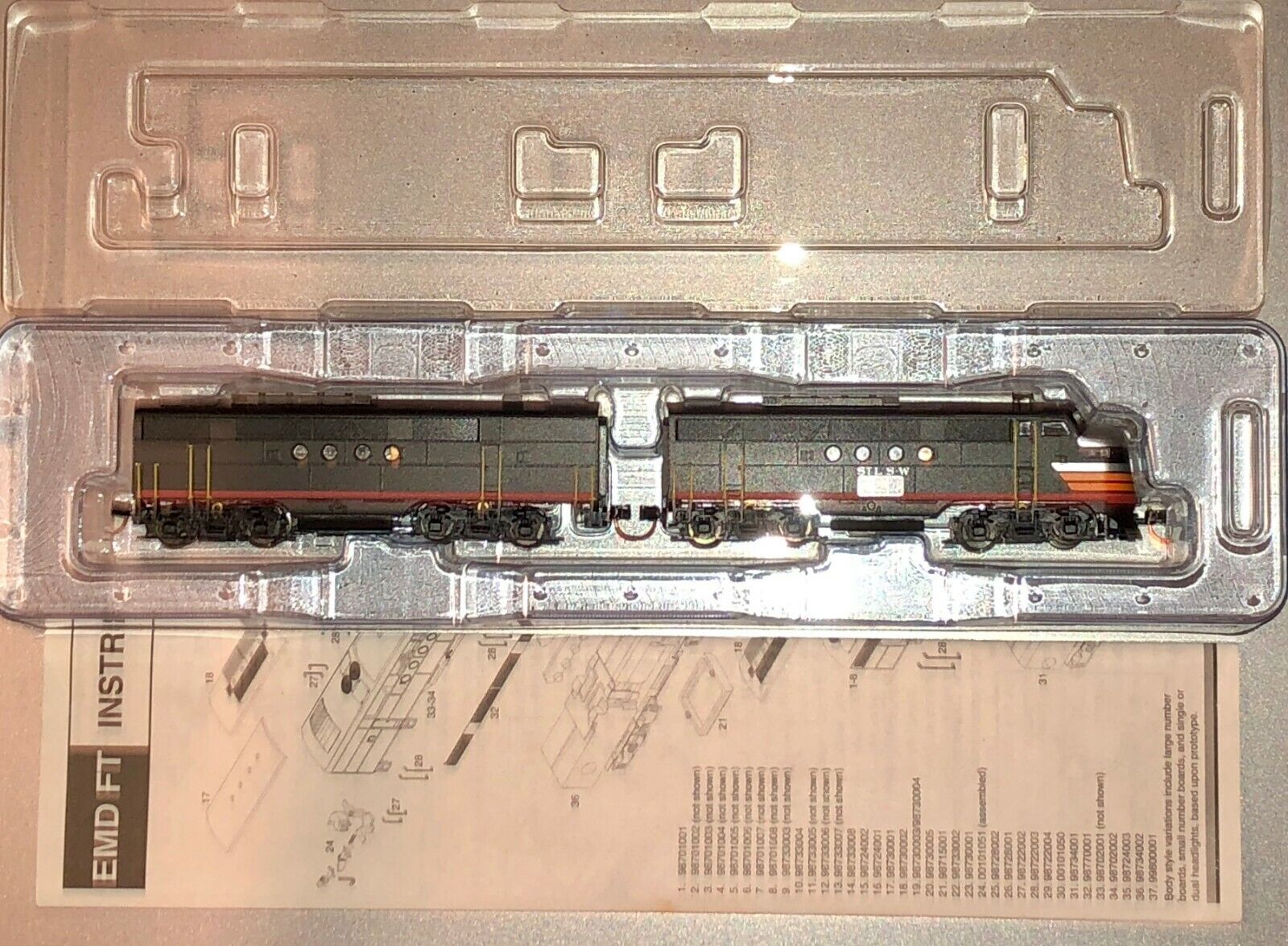 N Scale Cotton Belt EMD FT A B Units - Excellent Condition