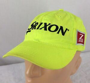 8595a730b26 Image is loading Srixon-Z-Star-Hat-Adjustable-Neon-Yellow-Golf-