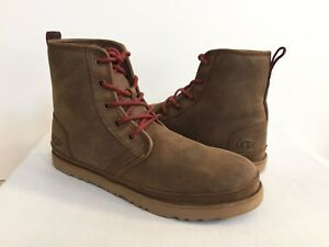 af4cf94f819 Details about UGG MEN HARKLEY WATERPROOF GRIZZLY LEATHER SHOE US 8 / EU  40.5 / UK 7