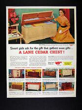 1954 Lane Cedar Chests 9 Chest Models vintage print Ad
