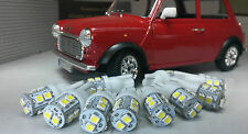 Austin Mini Smiths Dash 2 3 Reloj Calibre Kit Set Completo 9 Bombilla LED Blanco T10