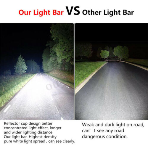 16 Inch 432W Tri-row Work Light Bar Spot Flood Beam Offroad SUV ATV Driving Lamp