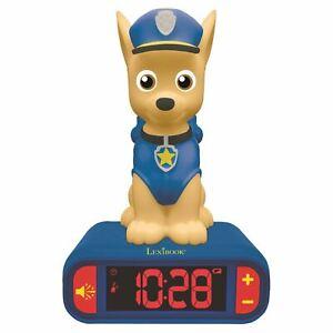 Paw-patrol-Chasse-Veilleuse-Alarme-Horloge-Chambre-Enfants