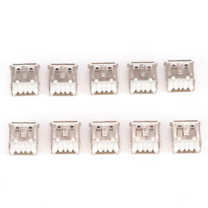 10-x-USB-Female-Type-A-4-Pin-DIP-Right-Angle-Plug-Jack-Socket-Connector-Fad