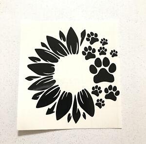 Fur Dog Mom Decal Sticker Car Window Mug Paw Print Heartbeat Decal Puppy
