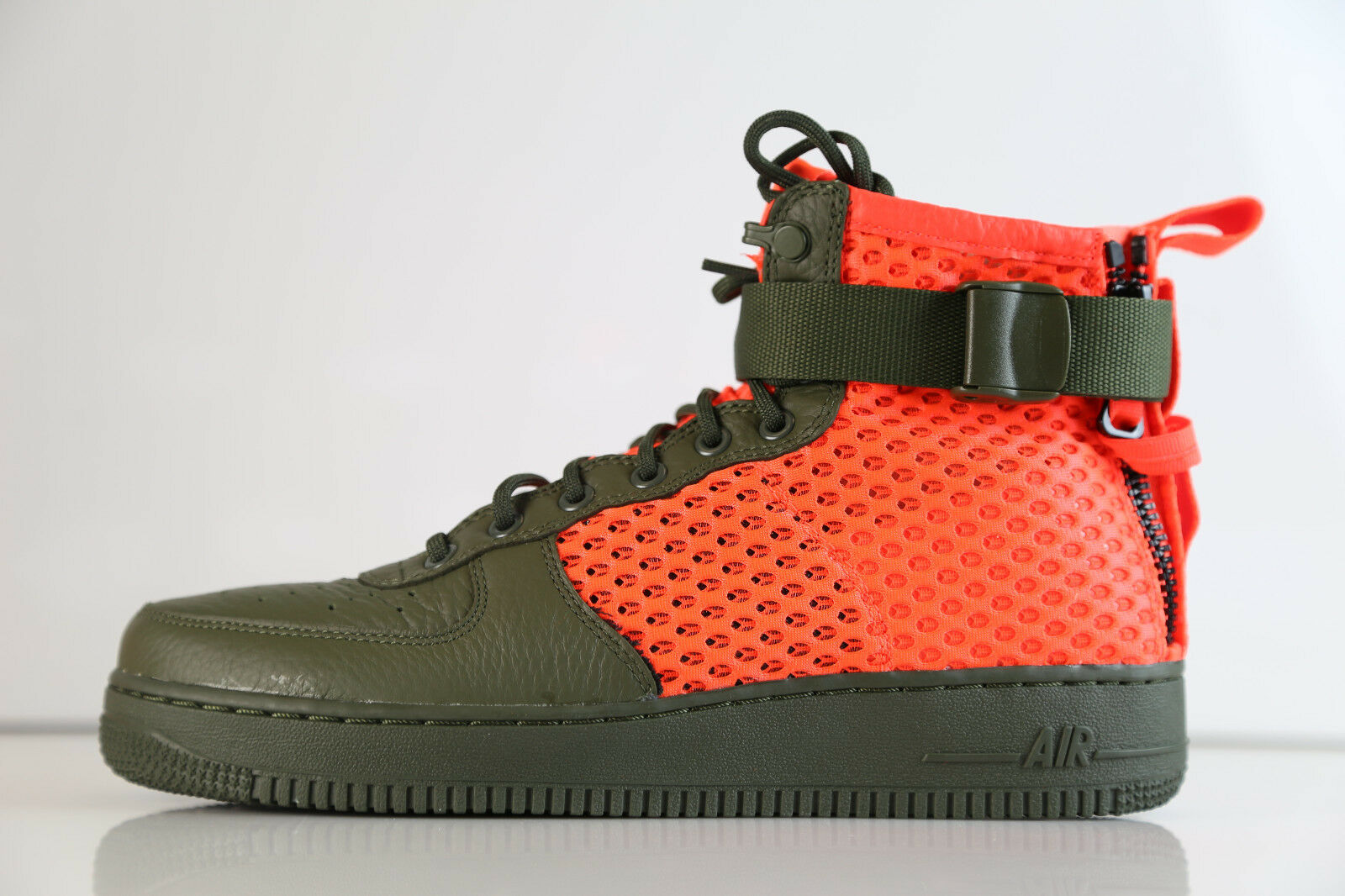 Nike Air Force SF AF1 Mid Mesh QS Cargo Khaki Olive Orange AA7345-300 8-13 1