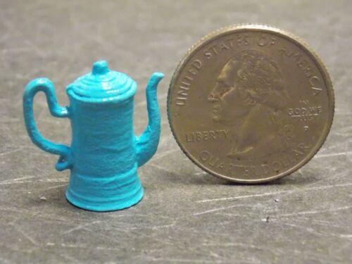 Dollhouse Miniature Metal Coffee Pot Blue 1:12 Inch Scale Z025 Dollys Gallery