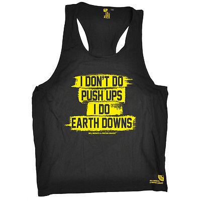 Gewidmet I Do Earth Downs Gym Bodybuilding Workout Training Funny Birthdaytank Top Gut FüR Energie Und Die Milz