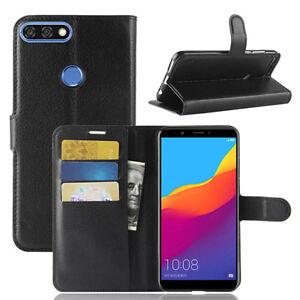 Pour-Huawei-Y7-Pro-Prime-Y9-2018-Magnetique-PU-Portefeuille-Cuir-Coque-Support