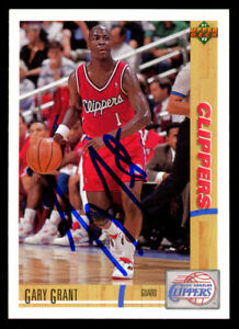 Gary Grant #195 signed autograph auto 1991-92 Upper Deck Basketball Card