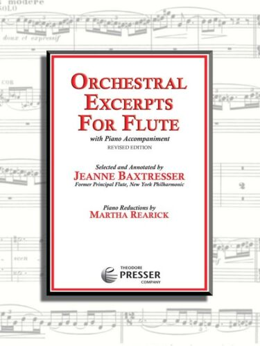 Orchestral Excerpts for Flute    piano reduction with solo part flute and piano