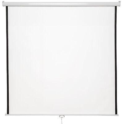 """Pantalla para proyector 203x203 110"""" lienzo de proyección 16:9 4:3 desplegable N"""