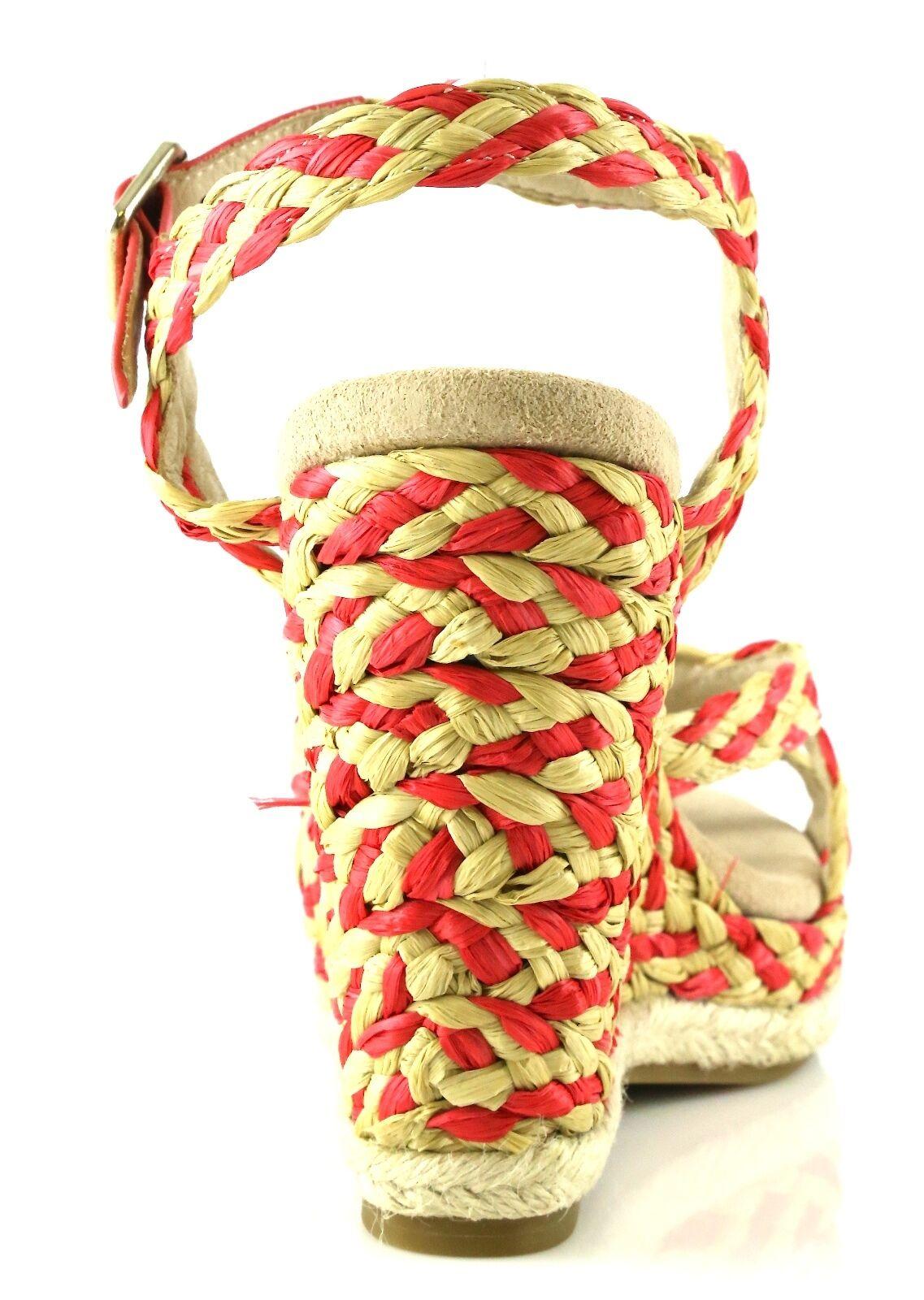 Juicy Couture FERNANDA Coral 10 Wedge Sandales 7030 Größe 10 Coral M NEW 194144