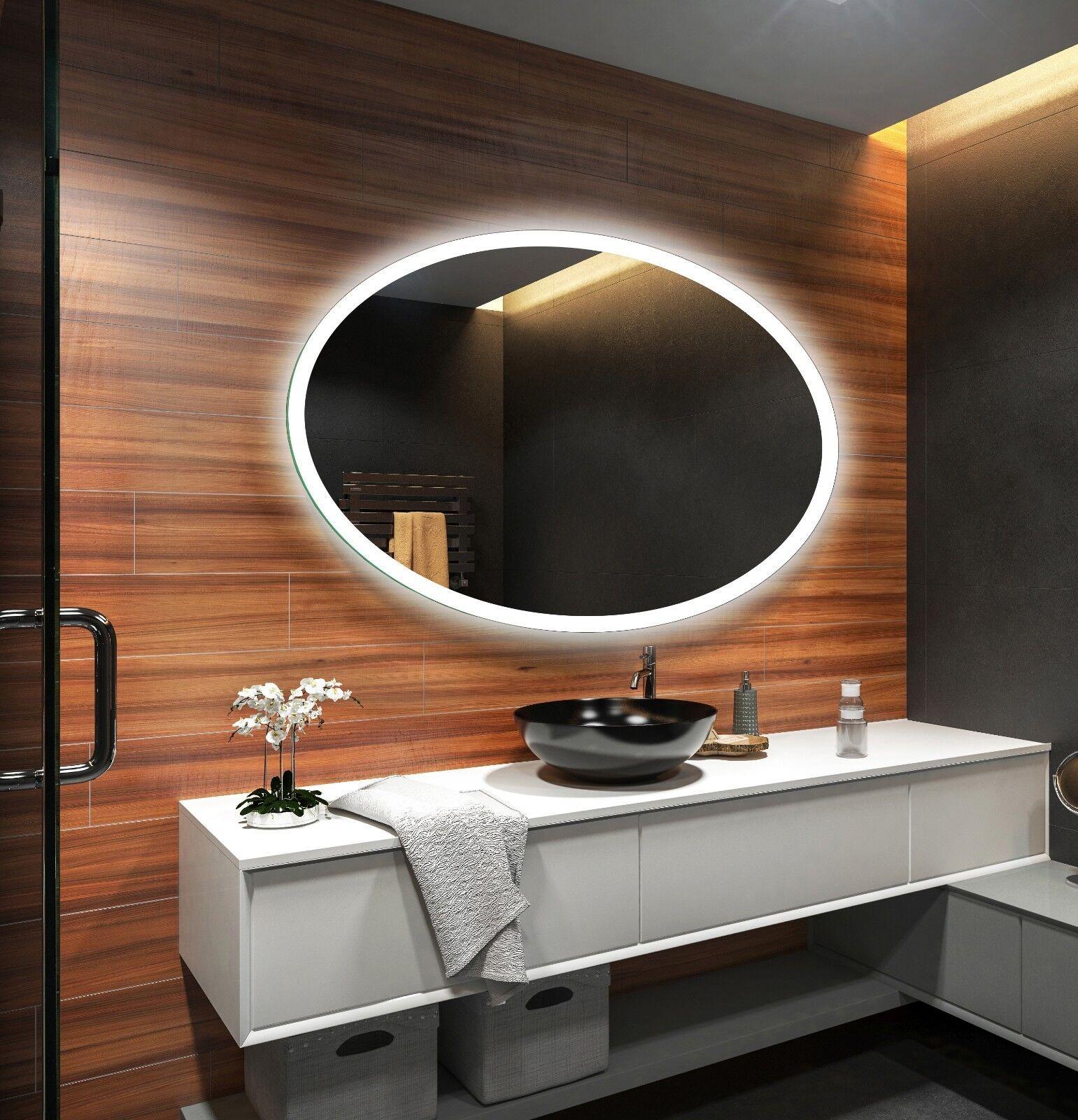 DEL Illuminé Miroir de salle de bains L74 Pour Mesurer Taille personnalisée