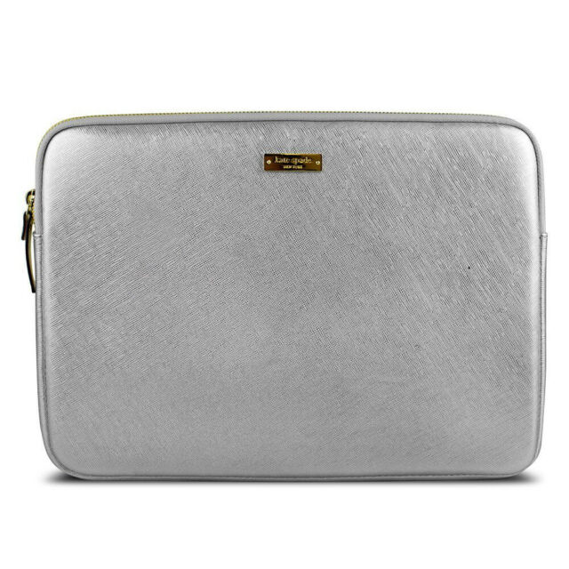 quality design 3f1d3 d8edc Kate Spade Saffiano Sleeve for Surface Pro 3 & 4 Metallic Silver Zippered  Case