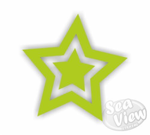 30 Star Car Van Bedroom Window Wall Laptop Stickers