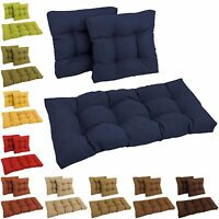 Set Of Three All-weather Uv-resistant Acrylic Squared Outdoor Settee Group Cushi