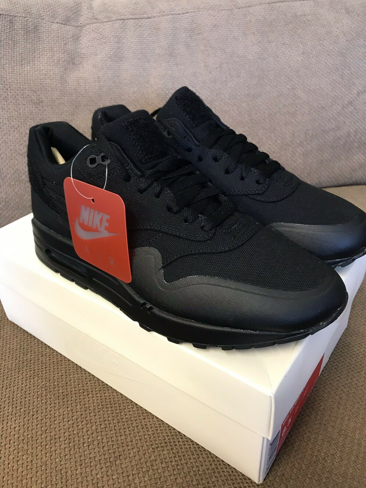 Nike Air Max 1 V SP Patch Pack Black Uk7.5 Brand New With Box
