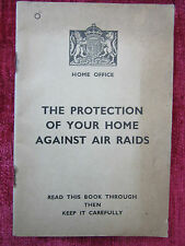 1938 WW2 The Protection Of Your Home Against Air Raids Home Front ARP FC69
