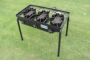 CONCORD-Triple-Burner-Outdoor-Stand-Stove-Cooker-w-Folded-Flat-Burner-Head