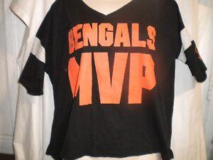 Victoria Secret NFL LOVE PINK Cincinnati Bengals MVP Size M Crop Tee ... b031fe59c