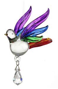 Fantasy-Glass-Songbird-Suncatcher-With-A-Swarovski-Crystal-Rainbow