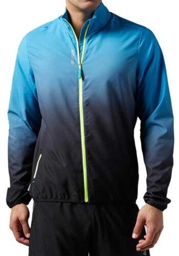 uomo da cappuccio cappuccio tessuto Giacca uomo e vento giacca nuova Reebok a Blu in da con anFtnB