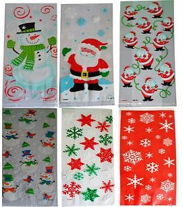 Christmas Cellophane Bags.Details About Christmas Cellophane Bags Pack Of 20 Gift Party Treat Kids Sweet Xmas Cello