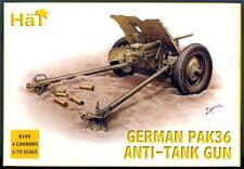 HaT Miniatures 1/72 GERMAN WWII PAK 36 ANTI-TANK GUN with CREW Figure Set