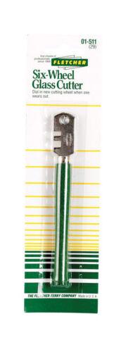 Fletcher  Six-Wheel  4 in Fixed Blade  Glass Cutter  Green  1 pk