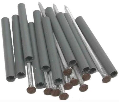 """Amerimax 2504319 Aluminum Gutter Spike W// Plastic Ferrule 7/"""",Brown Lot of 50"""