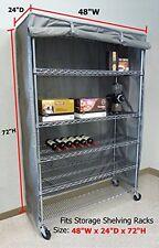 "Storage Shelving unit cover, fits racks 48""Wx24""Dx72""H"