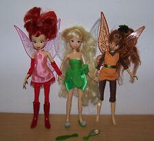 3 bambole, TINKERBELL & 2 altre bambole FATA.