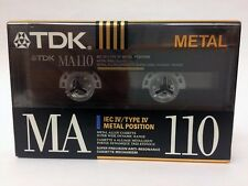 TDK MA 110 BLANK AUDIO CASSETTE TAPE NEW RARE 1990 YEAR JAPAN MADE
