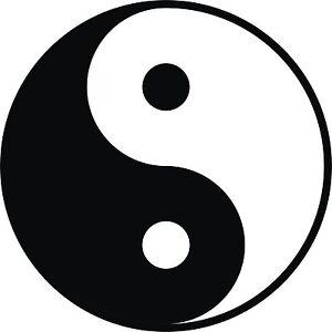 yin yang aufkleber tattoo f r t r wand fliesen glas auto. Black Bedroom Furniture Sets. Home Design Ideas