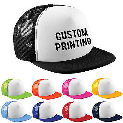 Half Mesh Contrast Retro Rapper Cap Flat Peak Snapback Men and Women Printed Hat