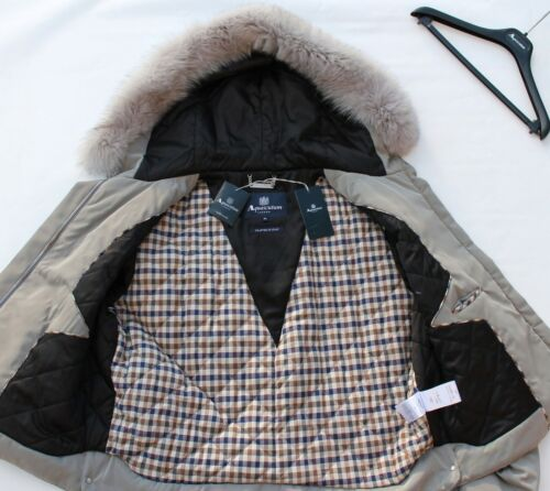 Parka Xl Brand Grey Coat Short In Tags With Italy Aquascutum Made Warwick New qStXB