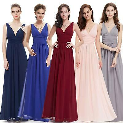 Ever-Pretty Plus Size Prom Gowns Deep V-neck Floral Evening Party Dresses 09016