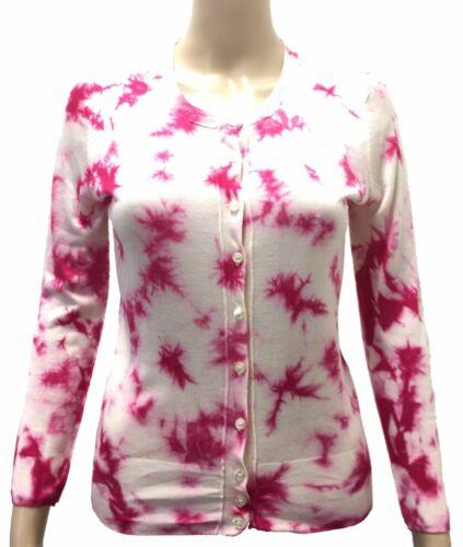 $845 Dolce /& Gabbana Womens Pink Tie-Dye Knit Cardigan /& Shell Twinset Size 8//44