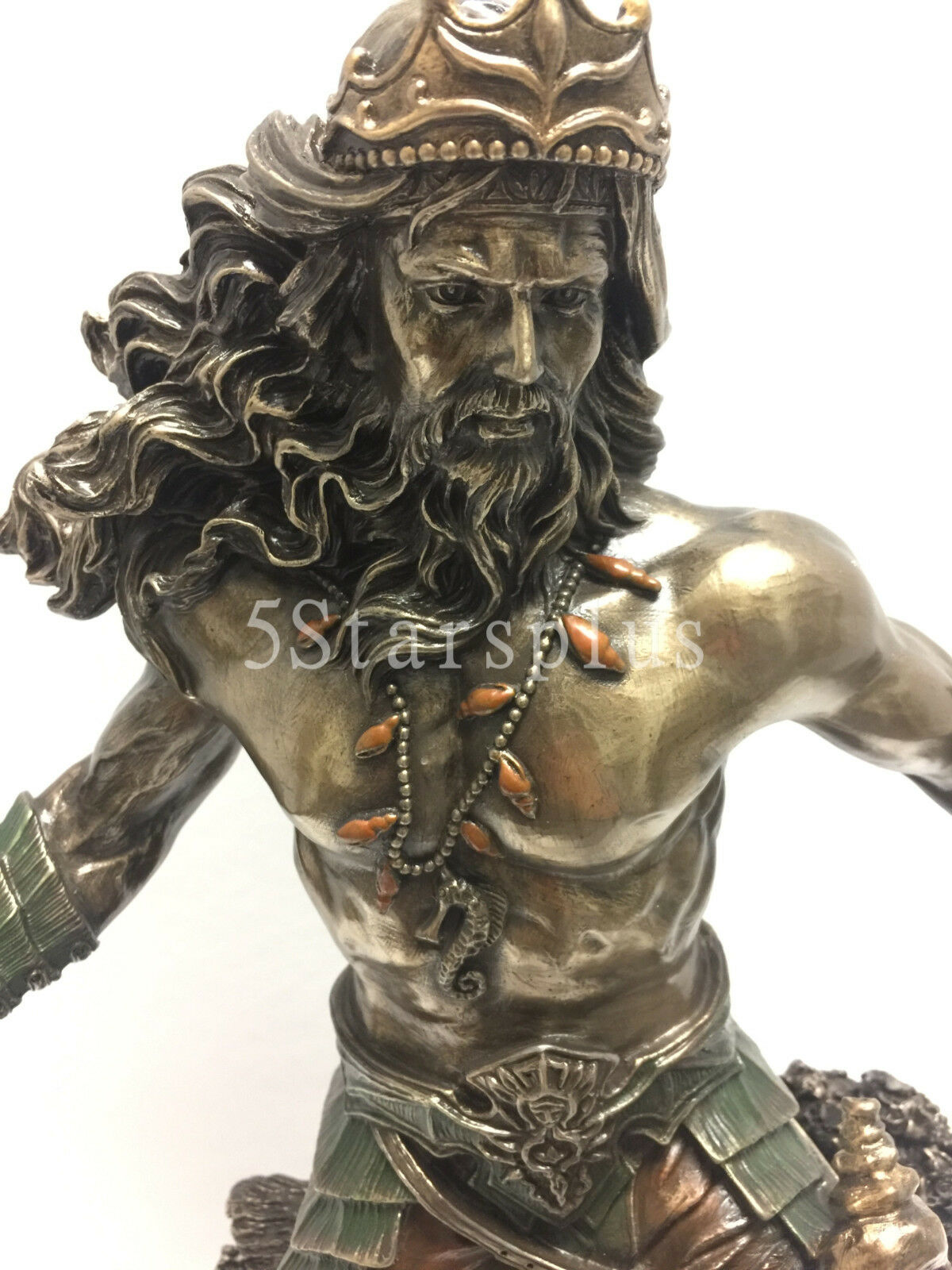 Poseidon Greek God Of The Sea Statue Sculpture Nautical Figurine Ship For Sale Online Ebay